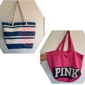 2 Victoria's Secret Tote Bags